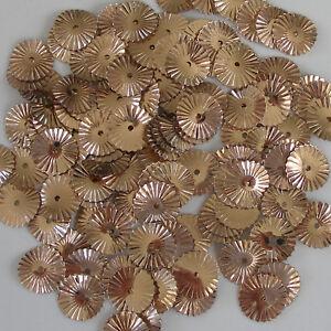 Sequins Gold Copper 10mm Sunburst/Starburst/Wheels Paillette ~100 pieces Loose