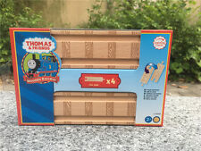 "Learning Curve Thomas & Friends 4pcs 6"" Straight Wooden Tracks Brand New"