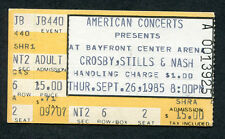 1985 Crosby Stills & Nash concert ticket stub St. Petersburg Fl Daylight Again