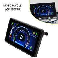 Instrumento De Lcd Completo Pantalla De Kilometraje Velocimetro Tacometro Motocicleta Impermeable Ebay