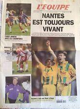 L'Equipe Journal 5/5/2000; FC Nantes toujours vivant/ Auxerre/ Marseille/ Psg