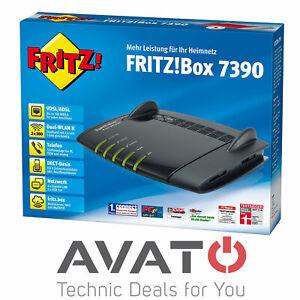 AVM FRITZBox 7390 VDSL DSL Modem Gigabit WLAN ROUTER / DECT REPEATER # *HÄNDLER*
