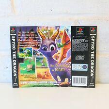 REAR BACK INLAY BOX ART ARTWORK PS1 PSONE SPYRO THE DRAGON GAME