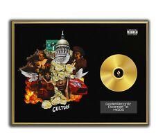 Migos Poster, CULTURE I GOLD/PLATINIUM CD, gerahmtes Poster HipHop Rap WallArt