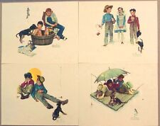 Vintage 1970's Norman Rockwell Me and My Pal Embossed Print Portfolio