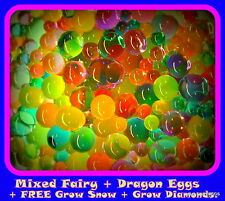 FAIRY & DRAGON EGGS RAINBOW Large Bag MIX Orbeez *Free* Grow Snow  + More.