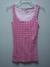 FADED GLORY Pink White Sleeveless Tank Tops Shirts Womens  S Small 4 6  NEW