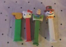 "Pez Snowman Hello Kitty Whistle Buzz Lightyear Candy Dispensers 5"""