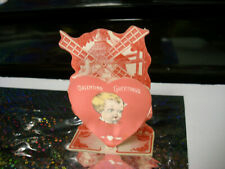 antique wind-mill stand-up beautiful Vintage Valentine Card