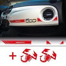 adesivo per fiat 500 ABARTH plancia cruscotto rosso scorpione 595 fascia sticker