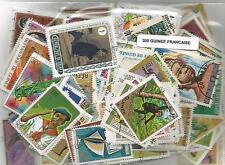 Lot de 300 timbres de la Guinée Francaise