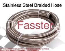 -6 AN Stainless Steel Hose W/ Stainless Steel Inner Core / Silver