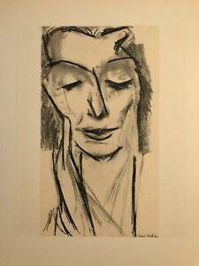 "Henri Matisse Stone Lithograph "" Eva Mudocci""1954 Original Mourlot Print Limited"