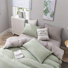 Bettwäsche 200x220 microfibra Grünes Grau Bettwaren Bettbezug Garnitur Renforce