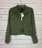 Sanctuary Anthropologie Women's M Medium Green Cropped Military Jacket NEW $139