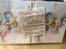 VINTAGE progressive Tallies baby blue bird 12 TALLY CARDSnever used in its wrap