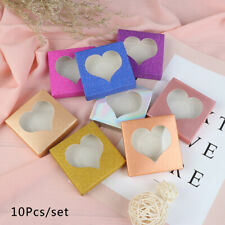 10set/lot Packing Box Eyelash Blank Package Multicolor Paper Transprernt Tray_ME