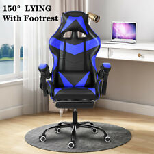 Racing Gaming Office Chair Computer Desk Seat Executive Swivel Leather Recliner