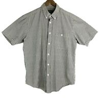 Orvis Mens Large Multi-colored Striped Short Sleeve Button Down Casual Shirt EUC