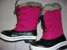 GIRLS PINK SNOWBOOTS SNOW BOOTS SIZE 1 BY RUGGED OUTBACK