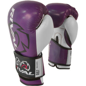 RIVAL Boxing RB7 Fitness Plus Bag Gloves - 14 oz. - Purple/White
