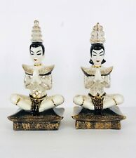 Vintage 50s MCM Siamese Temple Dancers Ceramic Man and Woman BP Imports Japan