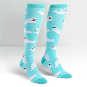 Sock it to me Knee High Baby Seals F0319 Socks Skate Horse Riding FREE POST