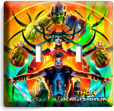 THOR RAGNAROK HULK SUPERHEROES DOUBLE LIGHT SWITCH WALL PLATE COVER ROOM DECOR