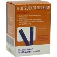 GLUCO TEST Blutzuckerteststreifen 25 St