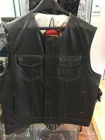 Custom Made Vest, Men's Leather Vest with David Mann Liner