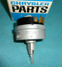 1966-69 MOPAR A OR B-BODY VARIABLE SPEED WIPER SWITCH #2770378 NOS REPLACEMENT