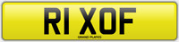 RICKY RICKS NUMBER PLATE RIX OF CHERISHED CAR REG R1 XOF NO ADDED FEES RICHARD