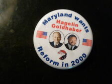 Maryland Reform Party Pin Back Presidential Campaign 2000 Button Hagelin Flag