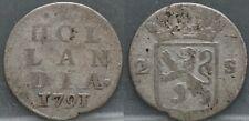 Nederland Netherlands - dubbele wapenstuiver 1791 -  2 stuiver 1791 Holland