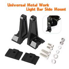 1 Pair Car Offroad Truck LED Work Light Bar Side Mounting Bracket Kit  Aluminum