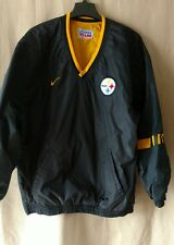 NIKE Pittsburgh Steelers Black Gold Reversible Pullover Jacket Size XL