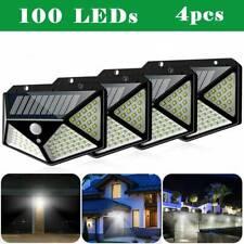 4x 100LED Solaire PIR Capteur de Mouvement Mur Lumières Jardin Sécurité Lampes