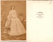 CDV Angerer, Wien, Elisabeth impératrice d'Autriche, la fameuse Sissi, circ