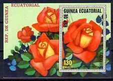 Fleurs - Roses Guinée Equatoriale (128) bloc oblitéré