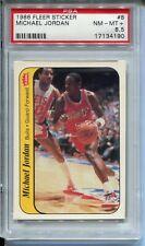 1986 '86 Fleer Sticker #8 Michael Jordan Rookie Card RC Graded PSA NM MINT+ 8.5