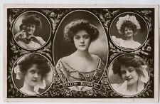 c 1906 British Victorian Theater BILLIE BURKE Actress photo postcard