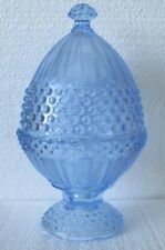 Gorham Emily's Attic Blue Hobnail Egg Covered Candy Dish. NEW - no Box