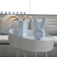 Cute Rabbit Alarm Clock Creative Led Digital Snooze Cartoon Electronic Clock Y