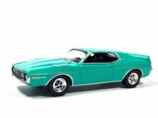 Greenlight County Roads AMC Javelin AMX Diecast 1/64 Scale Turquoise Green Loose
