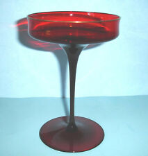 J.L. Coquet CATHERINE Champagne Saucer Ruby Red French Crystal 8 oz. New