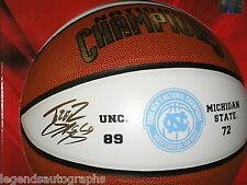 TYLER HANSBROUGH Signed UNC 2009 Champs Basketball Auto North Carolina BLOWOUT