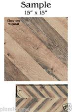 """REFIN Ceramiche CHEVRON Italian Floor Tile LJ44 Natural 15""""x15 SAMPLE"""