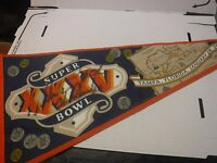 William Perry The Fridge Autographed Signed Super Bowl XXXV Pennant jh