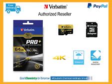 ($0 P&H) Verbatim GO Pro+ Micro SD TF MLC Memory Card 64GB 4k HD Class10 44034