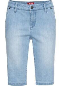Damen Jeans Shorts blau Bermuda Stretch Hotpants Denim Kurze Hose 34 - 50